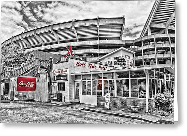 Crimson Tide Photographs Greeting Cards - Shadow of the Stadium Greeting Card by Scott Pellegrin