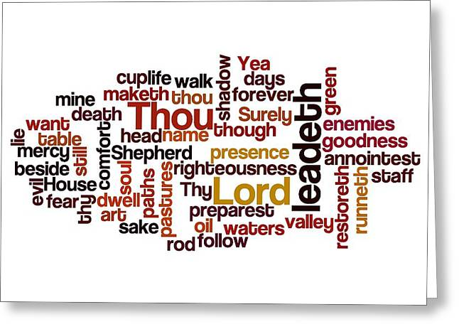 Word Cloud Greeting Cards - Shadow of the valley of death Greeting Card by Florian Rodarte