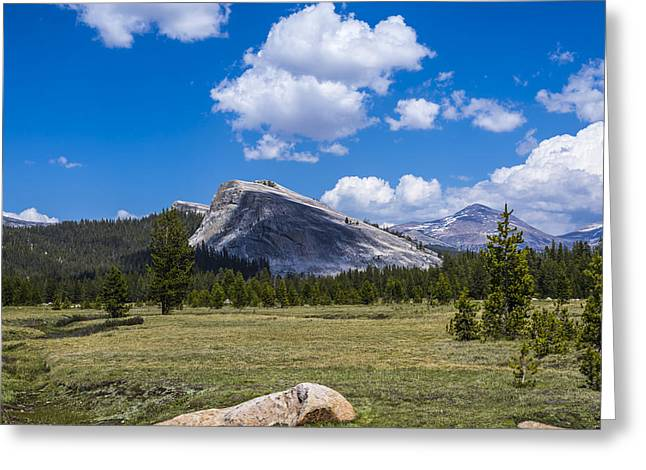 Paradise Meadow Greeting Cards - Shadow on Lembert Dome Greeting Card by Joseph S Giacalone