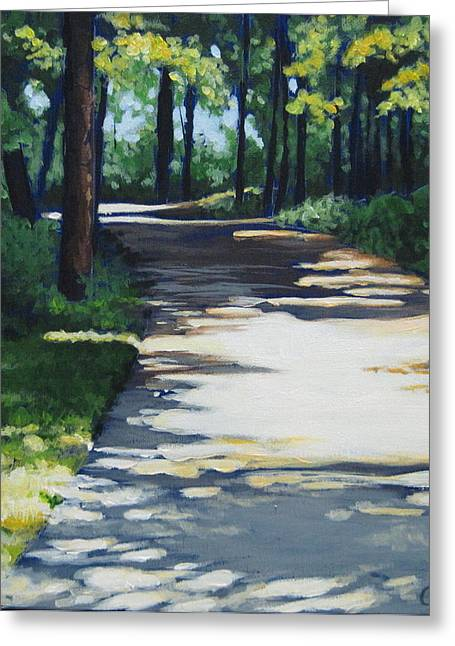 Carlynne Hershberger Greeting Cards - Shadow Path Greeting Card by Carlynne Hershberger