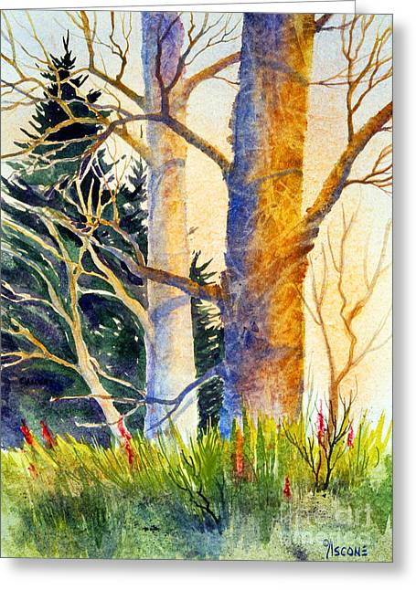 Raw Sienna Greeting Cards - Shadow Patterns II Greeting Card by Teresa Ascone