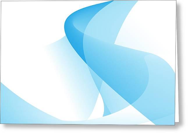 Geometric Image Greeting Cards - Shadow Play Greeting Card by Modern Art Prints