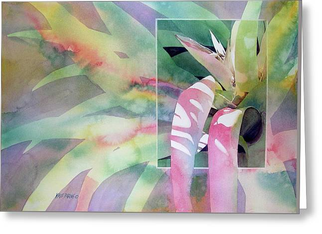 Epiphyte Greeting Cards - Shadow Play Greeting Card by Kris Parins