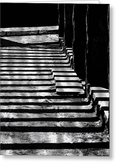 Rectangles Greeting Cards - Shadow To Steps Greeting Card by Jack Zulli