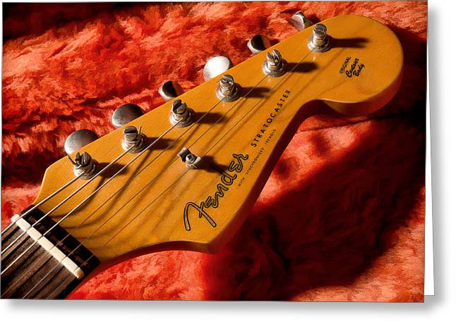 Stratocaster Greeting Cards - Shadowcaster Greeting Card by Douglas Pittman