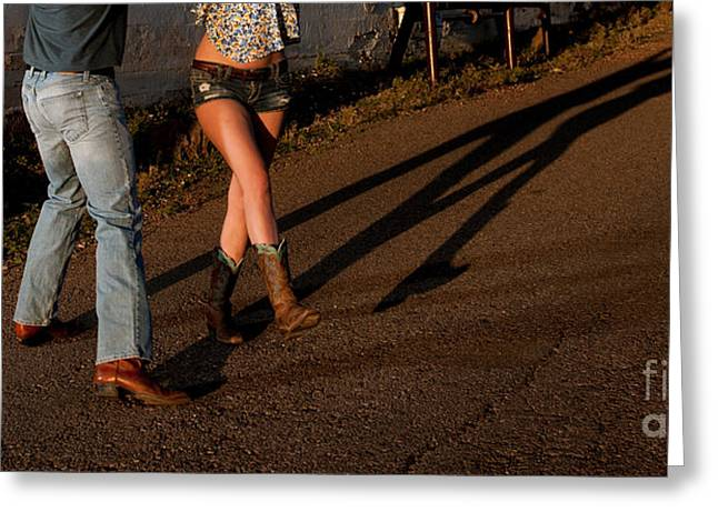 Country Dance Greeting Cards - Shadowed Dance Greeting Card by Scott Sawyer