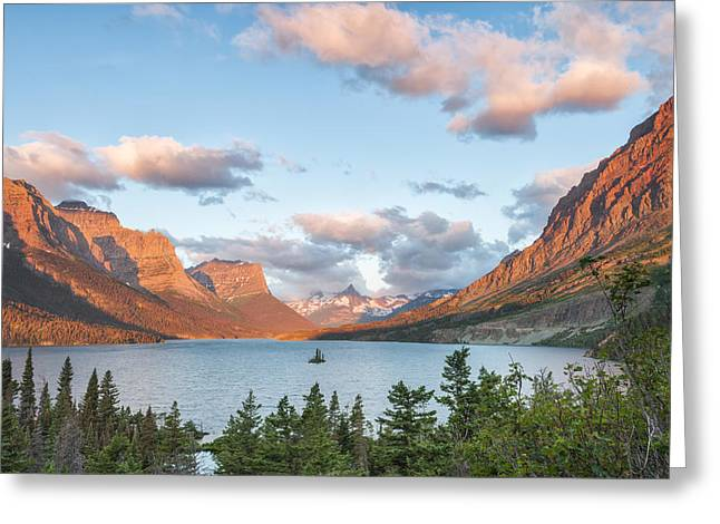 Photographers Forest Park Greeting Cards - Shadowing Goose Island Greeting Card by Jon Glaser