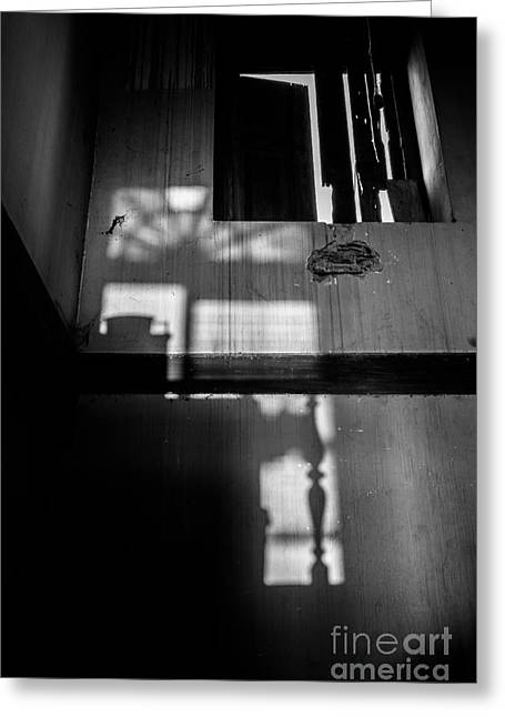 Broken Shutters Greeting Cards - Shadowplay Greeting Card by Dean Harte