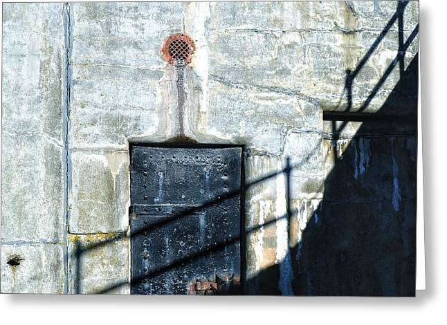 Fort Casey Greeting Cards - Shadows and Stone Greeting Card by Sue Small
