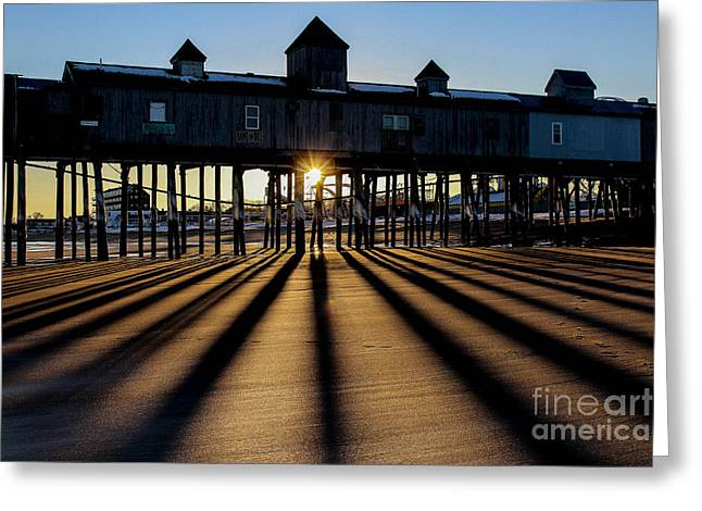 Maine Spring Greeting Cards - Shadows and Sunset Greeting Card by Joe Far Photos