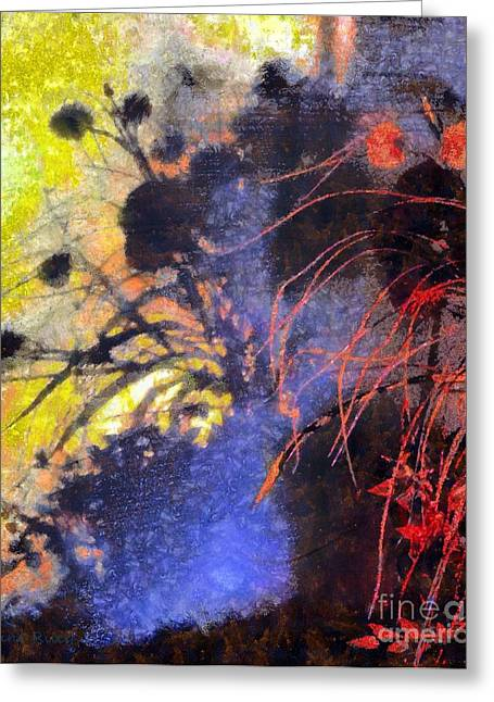 Red Wine Greeting Cards - Shadows dance across the wall Greeting Card by Janine Riley