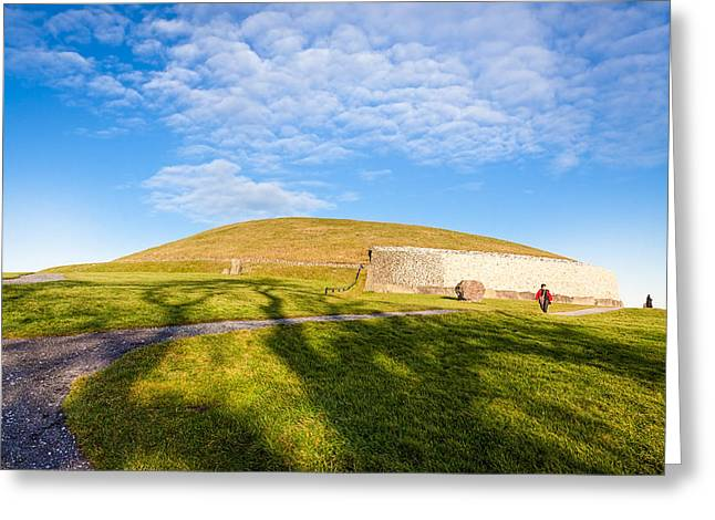 Shadows Fall on Newgrange in Ireland Greeting Card by Mark Tisdale