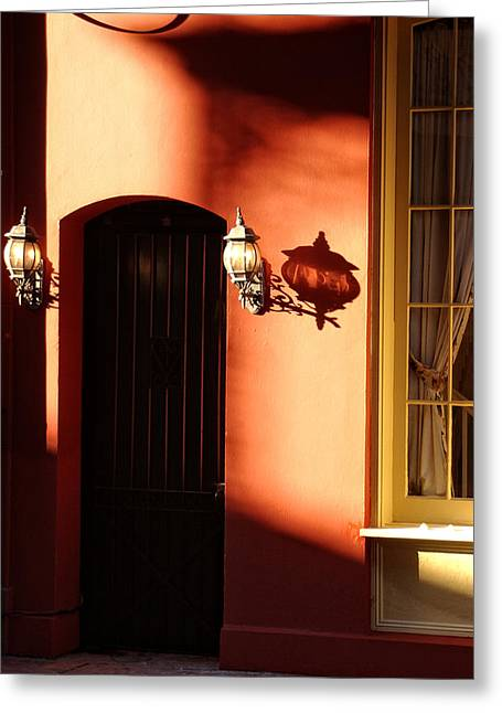 French Doors Greeting Cards - Shadows in the French Quarter Greeting Card by Greg Mimbs