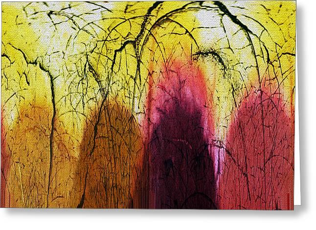 Shadows In The Grove Greeting Card by Absinthe Art By Michelle LeAnn Scott