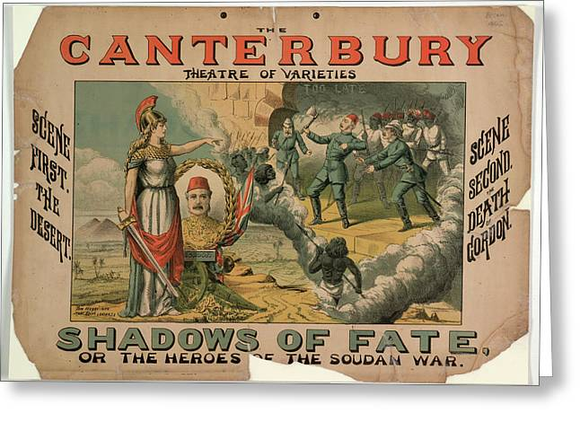 Shadows Of Fate Greeting Card by British Library