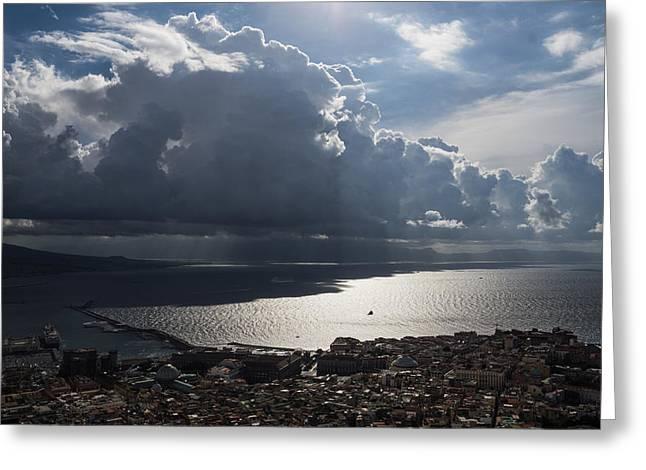 Ocean Vista Greeting Cards - Shadows of Clouds Greeting Card by Georgia Mizuleva