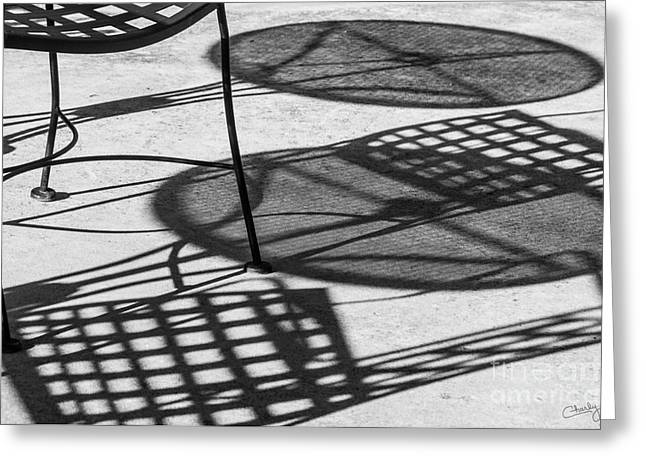 Shadows Of Outdoor Cafe II Greeting Card by Imagery by Charly