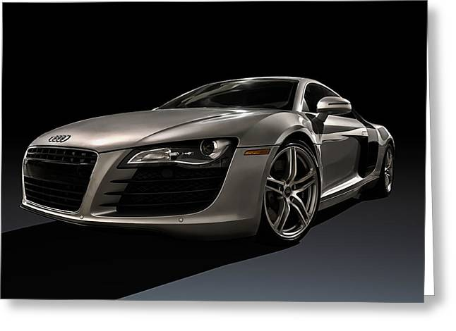 Sportscar Greeting Cards - Shadows of Silver Greeting Card by Douglas Pittman