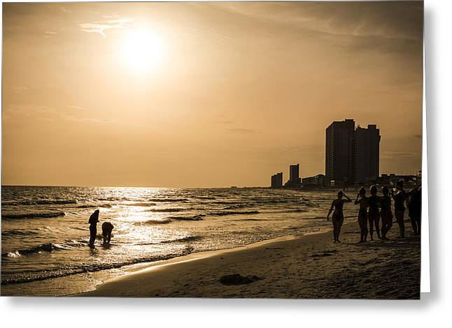 Panama City Beach Greeting Cards - Shadows of the Beach Greeting Card by David Morefield