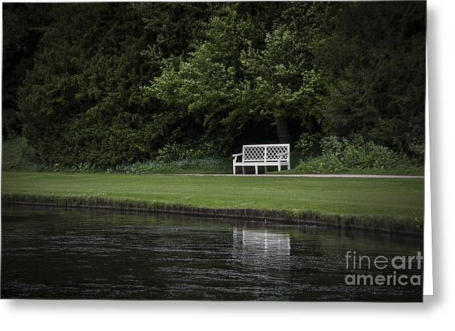 Park Benches Greeting Cards - Shadows Of Time Greeting Card by Evelina Kremsdorf