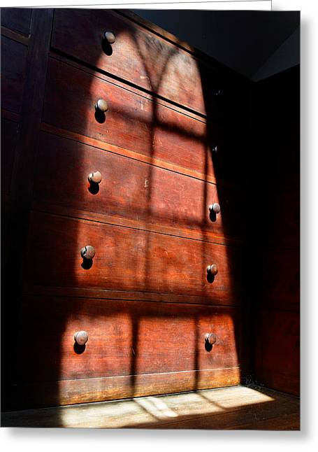 Shakers Greeting Cards - Shadows on Chest Greeting Card by Lone  Dakota Photography