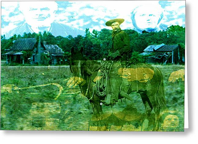 Shadows On The Land Greeting Card by Seth Weaver