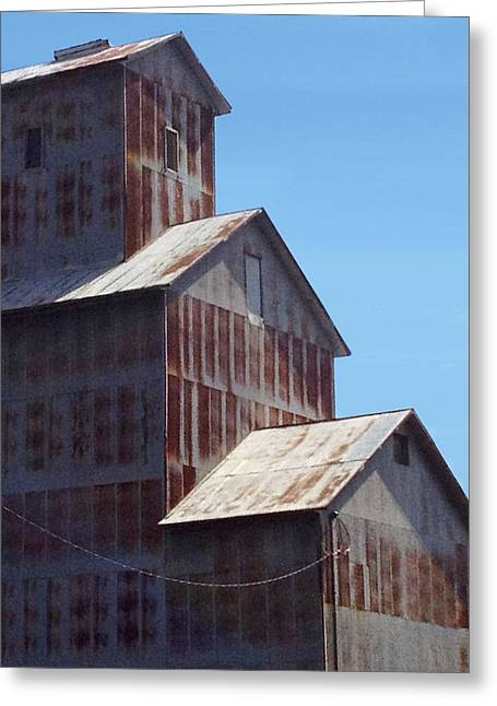 Top Seller Greeting Cards - Shadows on the Rusty Elevator Greeting Card by Digital Creations