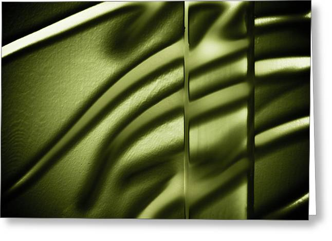 Emerald Green Abstract Greeting Cards - Shadows on Wall Greeting Card by Darryl Dalton
