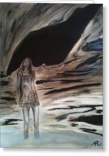 Alienate Greeting Cards - Shadows will Rise and Face the Wind Greeting Card by Nicla Rossini