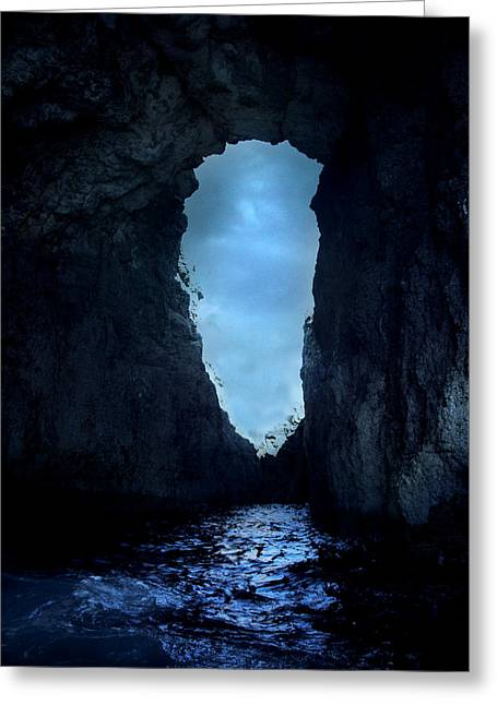 Shadowy Grotto - Malta Greeting Card by Cambion Art