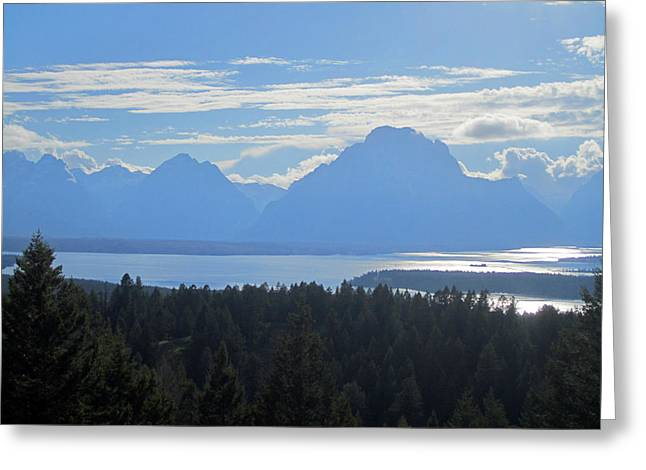 Teton Greeting Cards - Shadowy Mountains Greeting Card by Mike Podhorzer