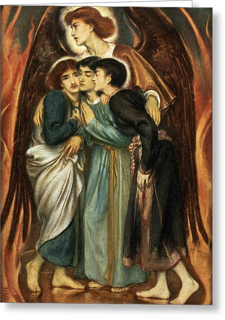 Daniel Paintings Greeting Cards - Shadrach, Meshach And Abednego Greeting Card by Simeon Solomon