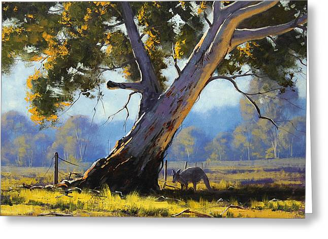 Shady Tree Greeting Card by Graham Gercken