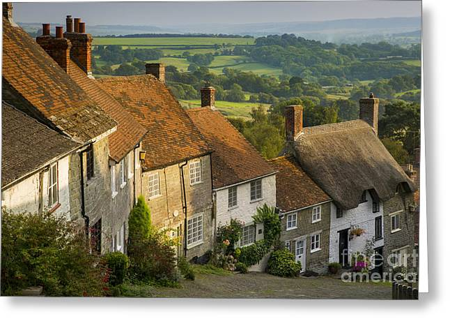 Historic Home Greeting Cards - Shaftesbury Cottages Greeting Card by Brian Jannsen