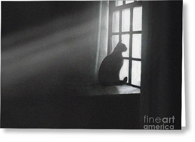Kitten Prints Digital Greeting Cards - Shafts Greeting Card by Robert Foster