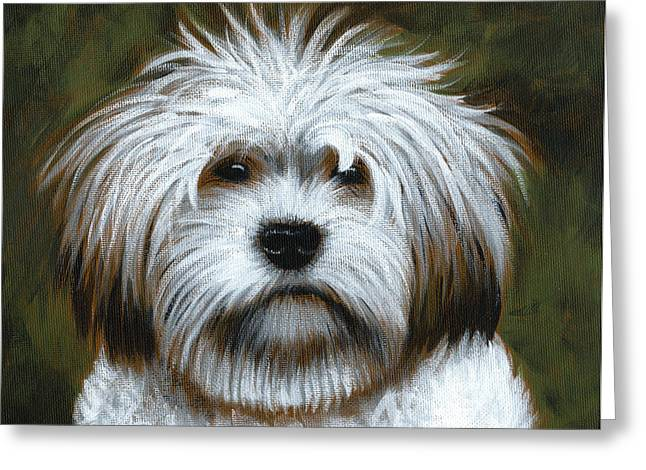 Shaggy ... Dog Art Painting Greeting Card by Amy Giacomelli