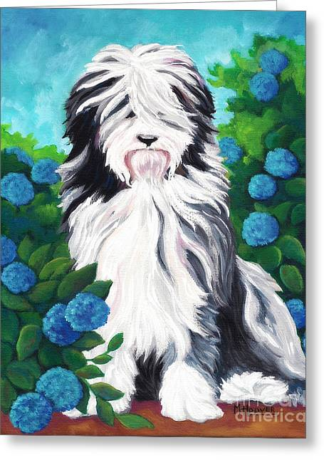 Love The Animal Greeting Cards - Shaggy Pup Greeting Card by MarLa Hoover