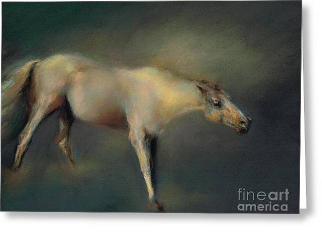 White Horse Pastels Greeting Cards - Shake It Off Greeting Card by Frances Marino