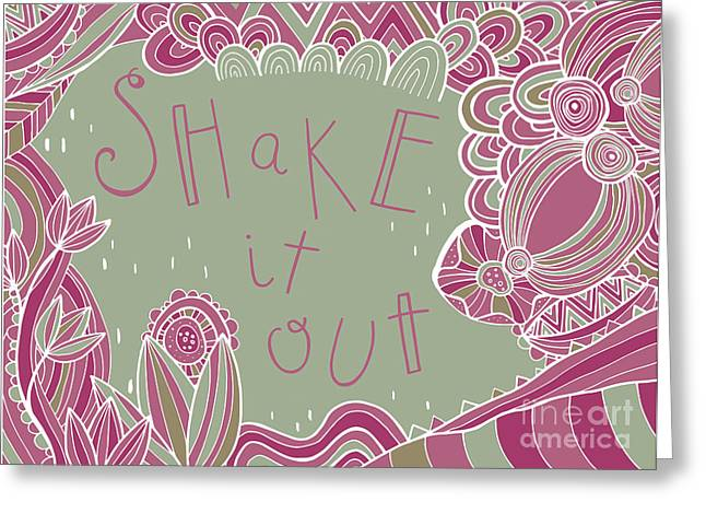 Ethnic Digital Art Greeting Cards - Shake it out Greeting Card by Susan Claire