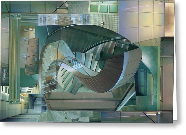 Spiral Staircase Mixed Media Greeting Cards - Shake It Up Greeting Card by Denise Mazzocco