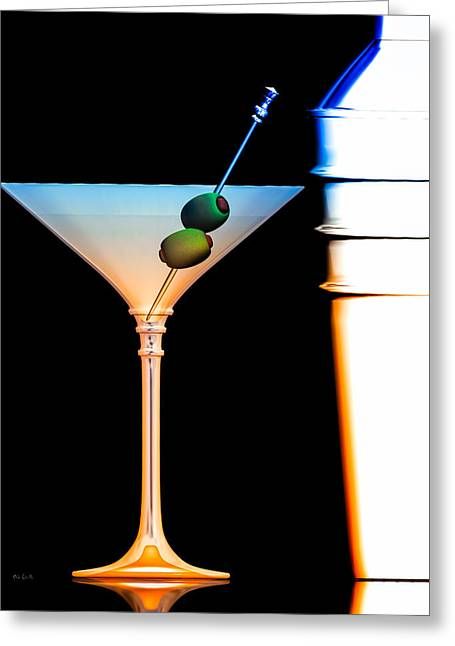 With Love Digital Art Greeting Cards - Shaken Not Stirred Greeting Card by Bob Orsillo