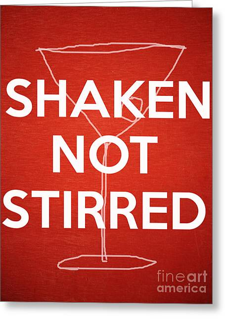 Invitation Greeting Cards - Shaken Not Stirred Greeting Card by Edward Fielding