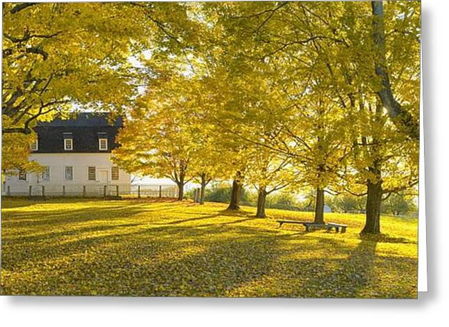 New England Village Greeting Cards - Shaker Village Greeting Card by Christian Heeb