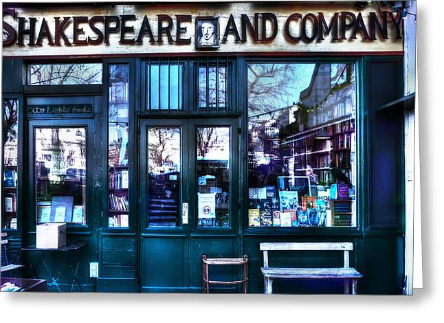 Pause Greeting Cards - Shakespeare and Company Paris France Greeting Card by Evie Carrier