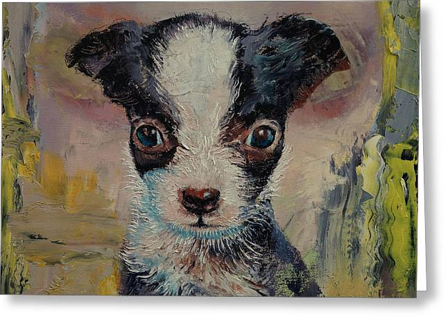 Chihuahua Dog Art Greeting Cards - Shakespeare Greeting Card by Michael Creese
