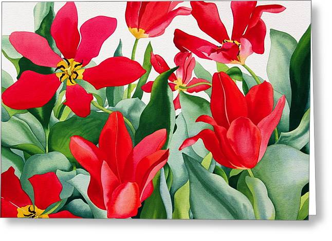 Shakespeare Tulips Greeting Card by Christopher Ryland