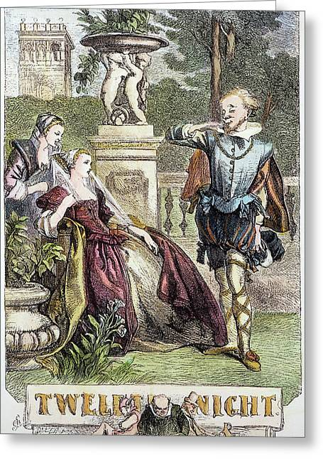 Shakespeare Twelfth Night Greeting Card by Granger