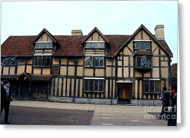 Bard Door Greeting Cards - Shakespeares Birthplace Greeting Card by Terri  Waters