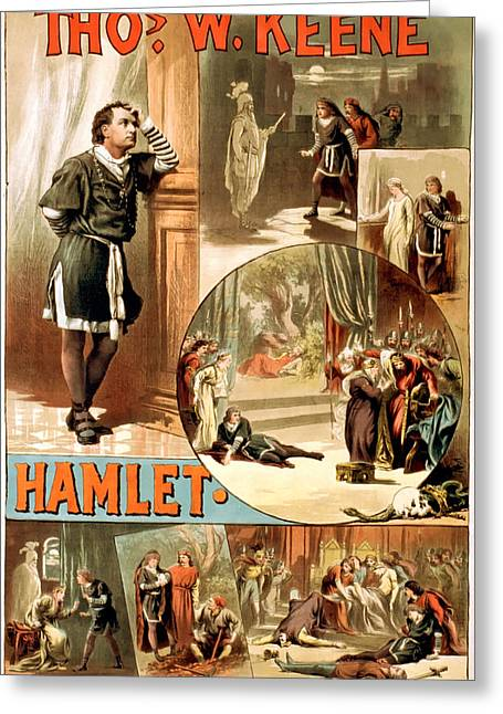 1880s Photographs Greeting Cards - Shakespeares Hamlet 1884 Greeting Card by Mountain Dreams
