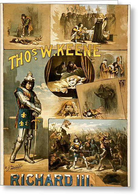 1880s Greeting Cards - Shakespeares Richard III 1884 Greeting Card by Mountain Dreams